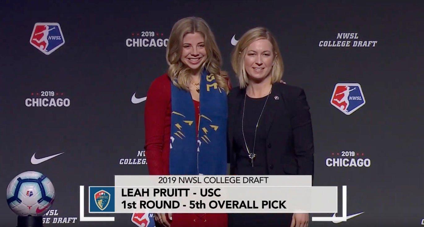 Leah Pruitt NWSL Draft 2019