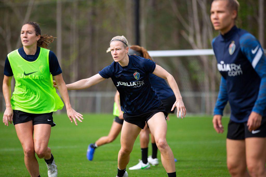 Diane Caldwell 2021 pre-season training